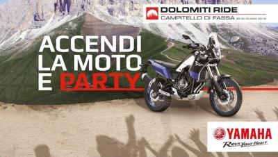 Yamaha accende l'estate con il Dolomiti Ride 2019
