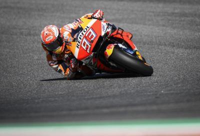 Marquez infuocato al Mugello, flop di Rossi