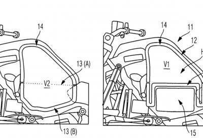 BMW brevetta il serbatoio per una moto ibrida