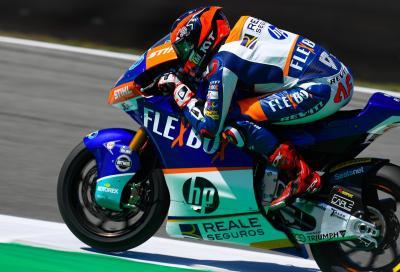 Prima vittoria per Fernandez in Moto2. Luca Marini sul podio