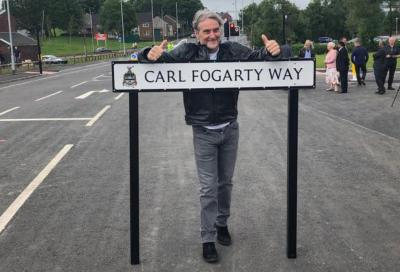 Inaugurata nel Regno Unito una strada in onore di Fogarty