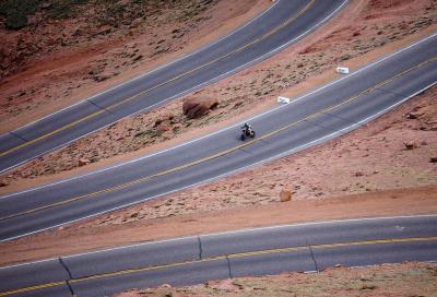 Stop alle moto alla Pikes Peak