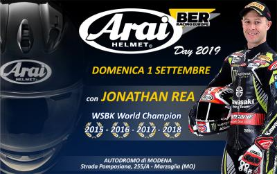 Jonathan Rea vi aspetta all'Arai Day 2019