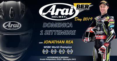 Arai Day, il 1° settembre in pista a Modena con Rea