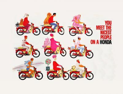 """Honda Cub e la pubblicità: """"Piace alla gente che piace"""""""