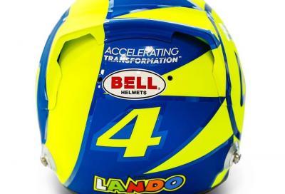 Valentino Rossi ispira Lando Norris per il casco di Formula 1
