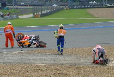 Marquez in ospedale in seguito a una brutta caduta nelle FP1
