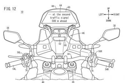 Honda brevetta il parabrezza con head-up display touchscreen