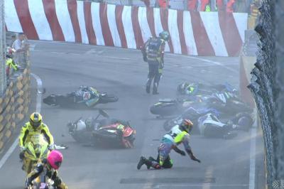 Macau GP, gara cancellata per incidente: sei piloti coinvolti