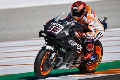 Valencia, day 2: a metà giornata è Marquez a dettare il passo