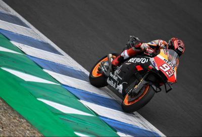 Pioggia a Jerez, Marquez il più veloce a metà giornata. I tempi