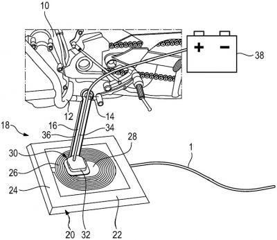 BMW brevetta la ricarica wireless per le moto elettriche