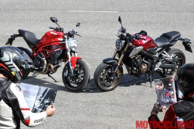 Ducati Monster 797 vs Honda CB650R