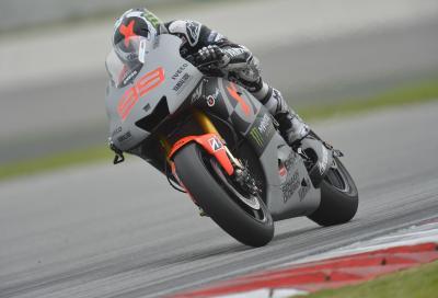 Lorenzo subito in pista con la MotoGP