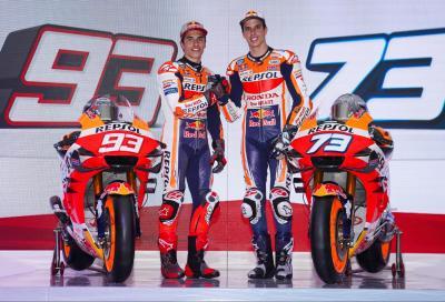 I fratelli Marquez tolgono i veli alla RC213V 2020