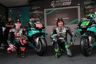 Il Team Petronas Yamaha ci mostra la nuova M1 di Quartararo e Morbidelli