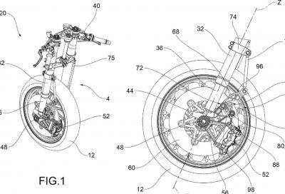 Forcella antiaffondamento, il nuovo brevetto di Aprilia