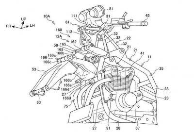 Honda brevetta forcella Hossack per CB1100 e Super Cub