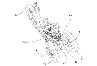 Piaggio brevetta un nuovo tre ruote… inverso