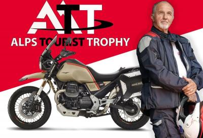 Franco Picco iscritto all'Alps Tourist Trophy con la Moto Guzzi V85TT