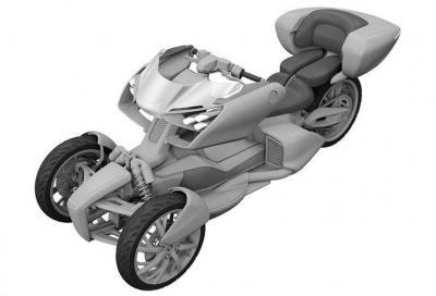 Un brevetto ci svela il nuovo trike ibrido di Yamaha