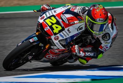 Suzuki in pole a Jerez. Prima fila per Migno