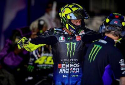 """Rossi: """"problemi alle gomme, poi la moto si è spenta"""""""