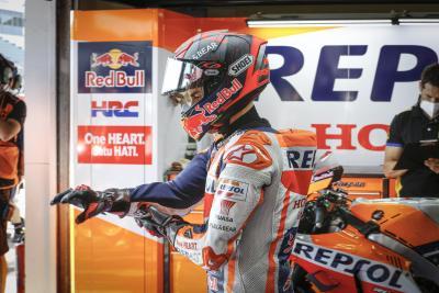 Marquez, in difficoltà, salta le qualifiche a Jerez