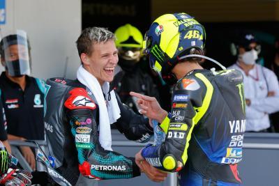 """Quartararo: """"Che emozione salire sul podio con Valentino"""""""