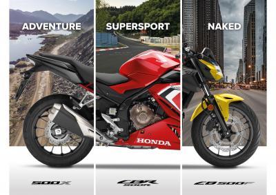 I nuovi modelli della gamma Honda 500 2021