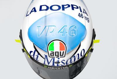 Il casco speciale di Valentino Rossi per Misano - FOTO