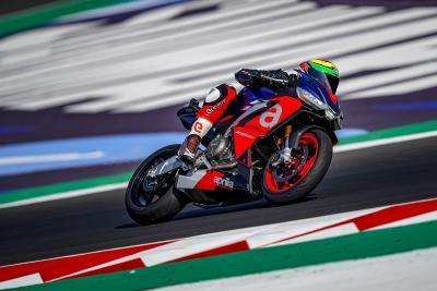 I piloti Aprilia MotoGP in pista a Misano con RS 660