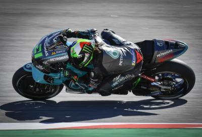 Volano le Yamaha a Barcellona: la pole a Morbidelli, Rossi 3°. Dovi 17°