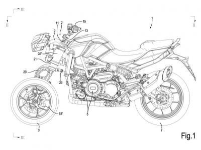 Aprilia brevetta una nuova moto a tre ruote