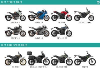 Nuovi colori per la gamma Zero Motorcycles
