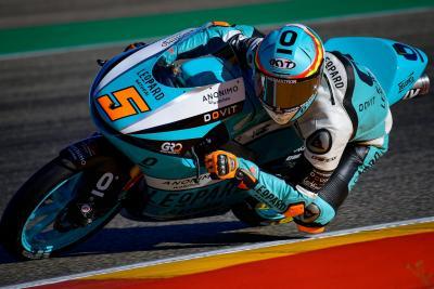 Masia regola il trenino della Moto3, è doppietta al Motorland Aragon