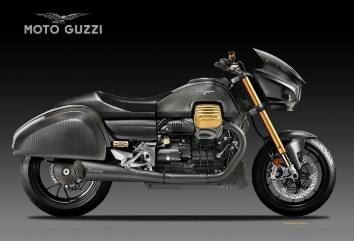 Moto Guzzi Racing Bagger, born to race