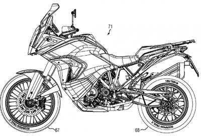 Nuova KTM 1290 Super Adventure 2021, brevetti ci svelano le linee
