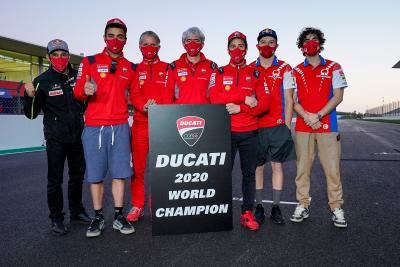 Ducati è Campione del Mondo Costruttori MotoGP 2020