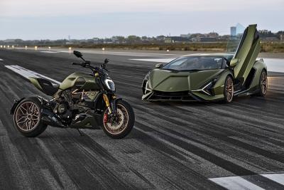 """Moto e auto """"si fondono"""", nasce la Diavel 1260 Lamborghini"""