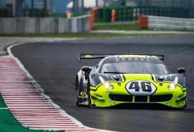 Rossi e Marini a Misano con la Ferrari 488 GT3