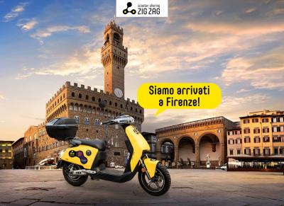 Zig Zag Scooter Sharing approda a Firenze