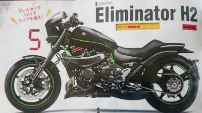 Kawasaki Eliminator H2, la muscle cruiser sovralimentata