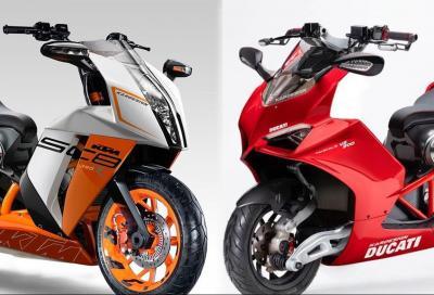 KTM SC8 390 vs Ducati Panigale V2 Scooter