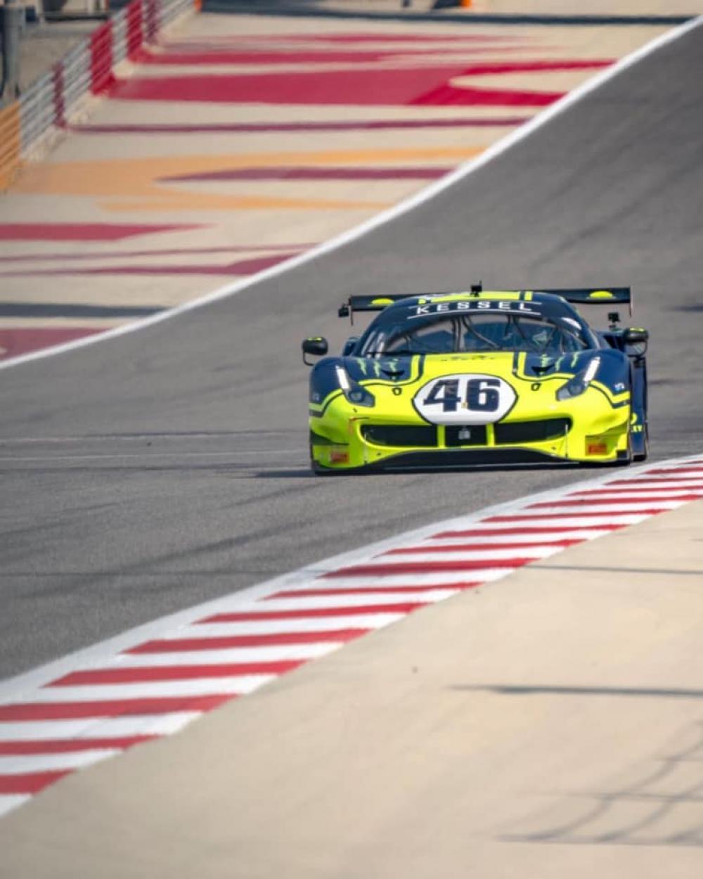 12 Ore del Golfo: Valentino Rossi con la Ferrari terzo nella classe ProAm - Sportmediaset