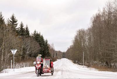 55.000 km con un SH300 sidecar: è record del mondo!