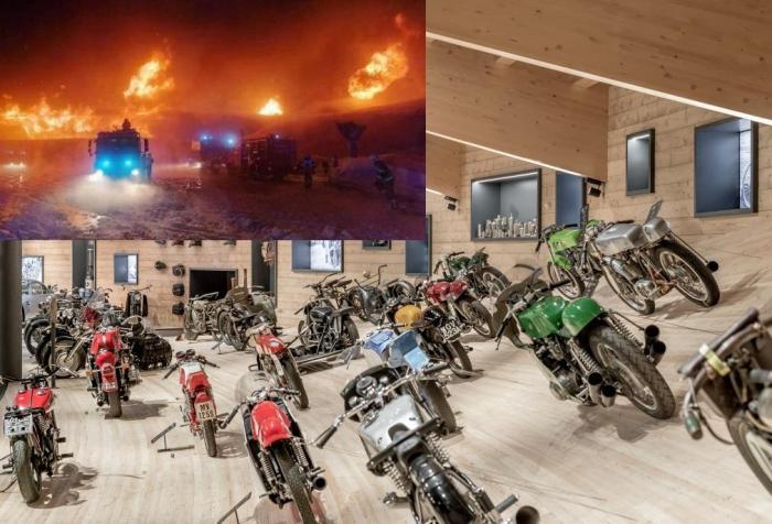 Oltre 200 moto in cenere: incendio al museo sul Passo del Rombo