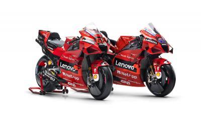 La Ducati Desmosedici GP21 di Bagnaia e Miller