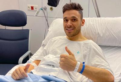 Canepa sotto ai ferri dopo un brutto incidente a Valencia