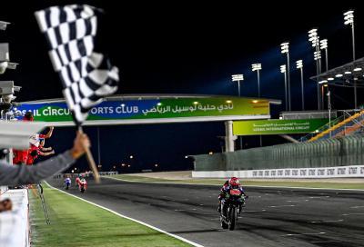 MotoGP 2021, Doha: Quartararo vince davanti alle Ducati Pramac